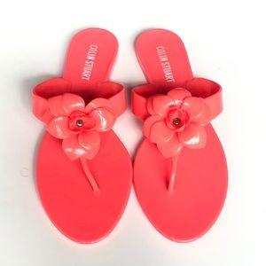 Colin Stuart Hot Pink Jelly Flip Flop Sandals